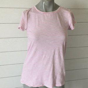 Loft vintage soft t shirt pink & white stripe xs